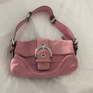 Real coach pink suede purse.